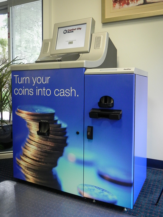 banks with coin machines
